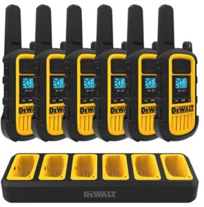 DEWALT DXFRS800 2 Watt Heavy Duty Walkie Talkies - Waterproof