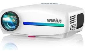 WiMiUS S1 Native 1080P Projector 10000: 1 Full HD Brightness Lumens